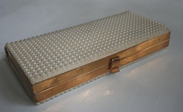 50er Abendtasche mit Perlen