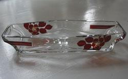 Art Deco Schmuckablage aus Glas